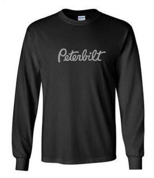 Chandail-noir-manche-longue-logo-peterbilt